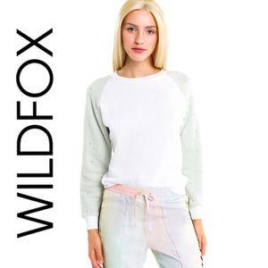 Wildfox Glitz Rhinestone Bling Sweatshirt
